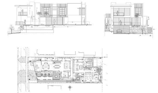 Holbeck Residence - Drawing Elevation Floor Plan